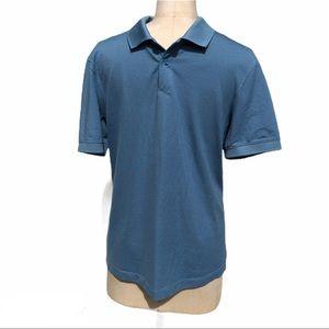 Lululemon blue polo shirt